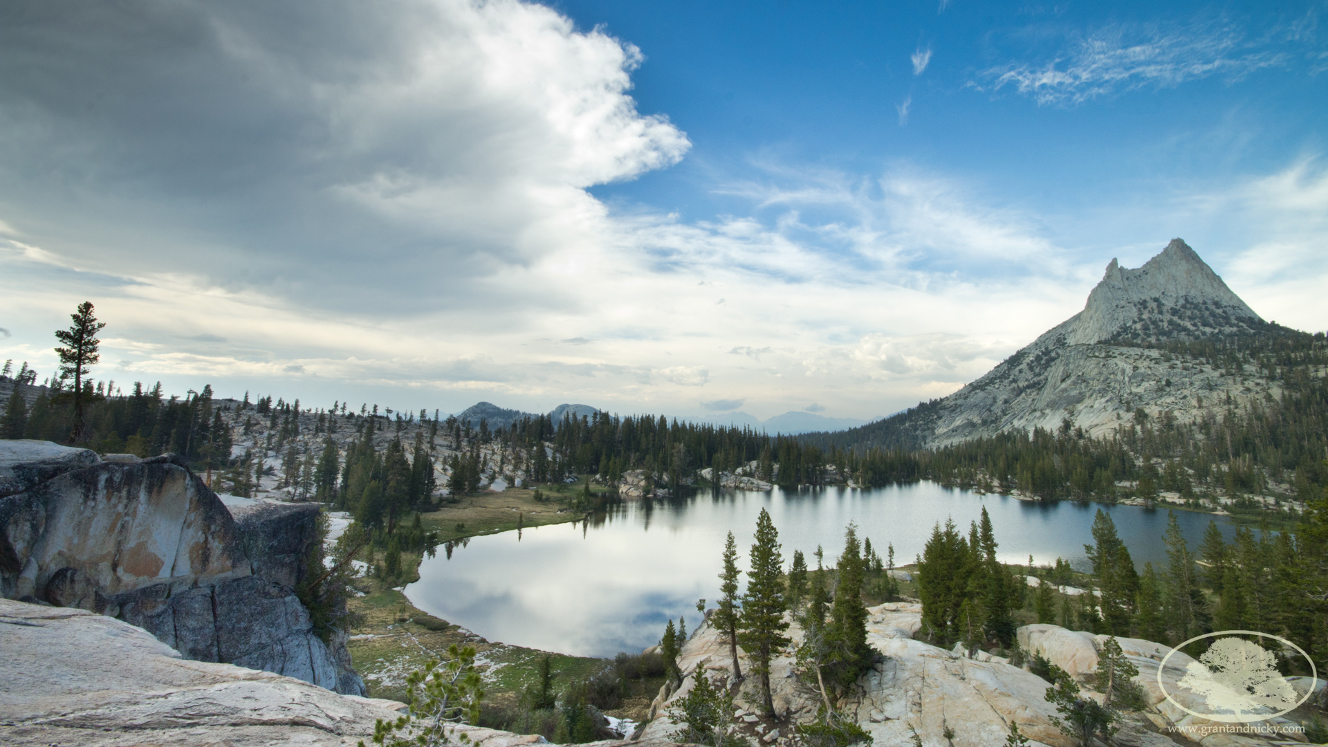 Upper Cathedral Lake & Cathedral Peaks